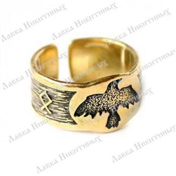 Кольцо с вороном