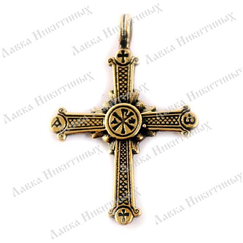 Купить Крест с хризмой. Авторская работа. Доставка по СНГ  Христианская Символика Крест