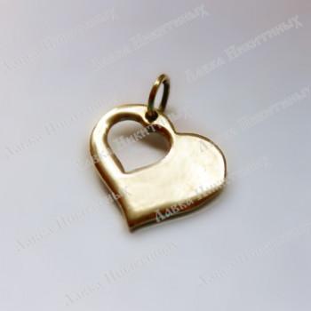 Кулон Открытое сердце