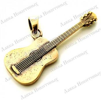 Кулон Гитара бард